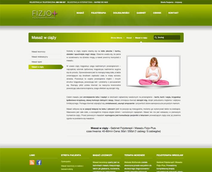 strona internetowa fizjo-plus.com o- oferta
