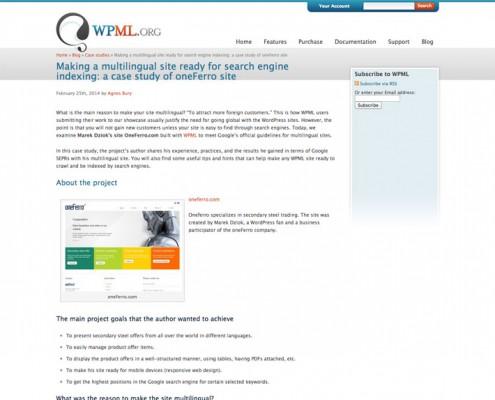 Artykuł na WPML.org o pixeljuice